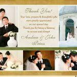 simple designing wedding thank you postcards attached photo