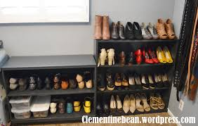 Bookshelf Organization Organizing Shoes Using Old Book Shelves Clementine Bean