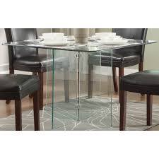 Glass Dining Table And 4 Chairs by 354 00 Alouette Square Glass Dining Table D2d Furniture Store