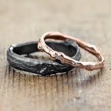 rings gold wedding images Branch wedding ring set 14k rose gold triple diamond branch band jpg