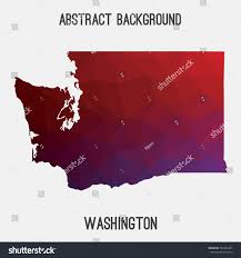 Washington State Detailed Map Stock by Washington State Map Geometric Polygonal Styleabstract Stock