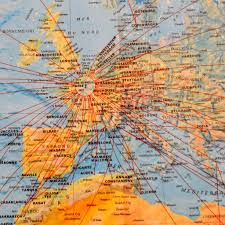 Marseilles France Map by La Brocante Vintage Air France Map From Marseille