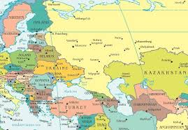 russia map europe and russia map travel maps and major tourist attractions maps