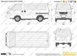 1991 mitsubishi delica the blueprints com vector drawing mitsubishi delica 2wd