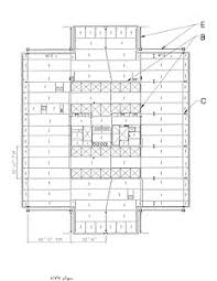 the floor plan of a new building is shown a statement in steel the new york times building civil