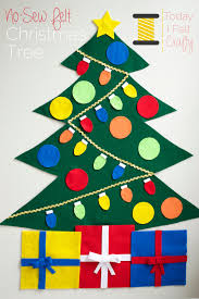 no sew felt christmas tree tutorial u0026 free pattern by today i