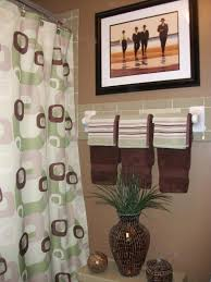 Green And Brown Shower Curtains Another Chocolate Brown Bathroom I Just That Color