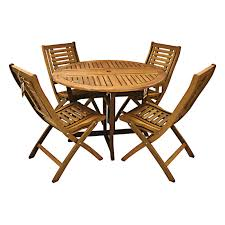 Patio Table And Chairs Set Outdoor Wood Folding Table And Chairs Set 3 Pc Outdoor Folding