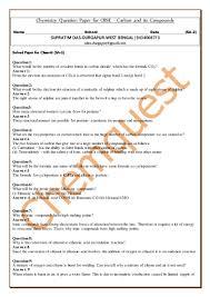 chemistry question paper for cbse 10 carbon u0026 its compounds