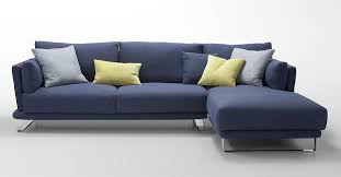 Blue Sectional Sofa With Chaise Modern Blue Fabric Sectional Sofa Lucas For Remodel 10