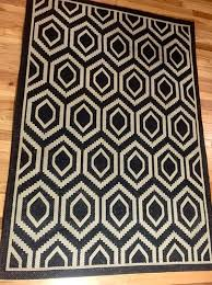 Modern Indoor Outdoor Rugs Black White Modern Indoor Outdoor Rug Furniture In Denver