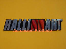ralliart logo acromann online shop