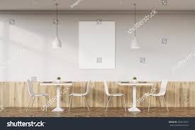 family cafe interior retro design tables stock illustration