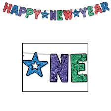 new years streamers glittered happy new year streamers 8 x 8 6