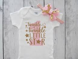 birthday onesie twinkle twinkle birthday onesie in pink and
