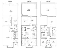 Modern Small House Plans by Adelanto Combined Floorplan Narrow Townhouse Floor Plans 2 On
