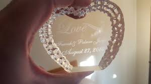 personalized heart shaped crystal cake topper 118042957