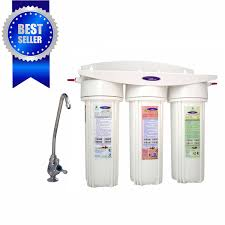 triple undersink water filter with fluoride removal
