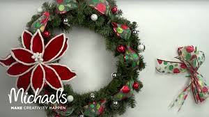 Holiday Wreath Diy Holiday Wreath Michaels Youtube