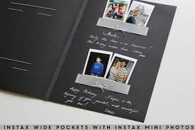 black wedding guest book wedding album black instant guest book black pages instax
