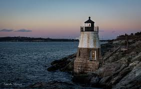 castle hill lighthouse newport ri new england winter photo