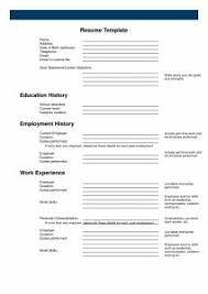 Easy Resume Sample by Free Resume Templates Blank Cv Template Basic Sample In 87