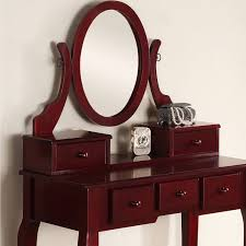 Makeup Vanity Table With Drawers Roundhill Ashley Wood Make Up Vanity Table And Stool Set Multiple