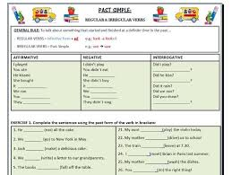 past simple regular u0026 irregular verbs affirmative interrogative