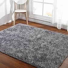 Modern Floor Rug Hoomy Modern Silver Gray Floor Rugs Foam Fluffy