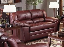 Bonded Leather Loveseat Wine Bonded Leather Sofa U0026 Loveseat Set By Just In Time