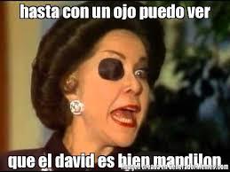 Memes De David - hasta con un ojo puedo ver que el david es bien mandilon meme de