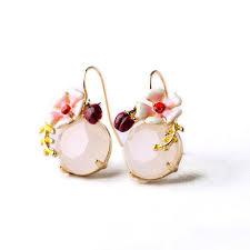 sweet earrings 2015 summer new design sweet earring enamel flower ladybug