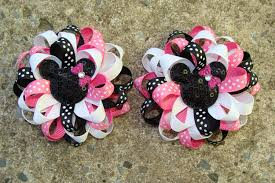 mickey mouse hair bow minnie mouse hair bow drawing clipartxtras