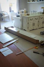 Laminate Flooring At Ikea Dining Room Makeover Featuring Ikea Faux Built Ins A Small Snippet
