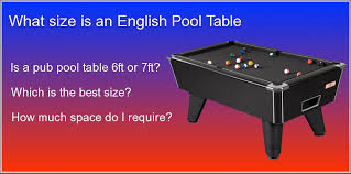 pool table pocket size uk pool table size