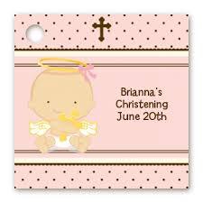 baptism favor tags baptism christening favor tags angel baby girl caucasian favor