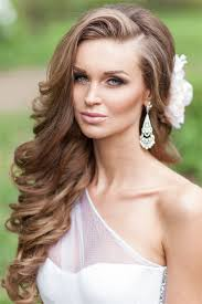 a side part with long hair and a swoop and a cross style ideas 20 modern bridal hairstyles for long hair deer