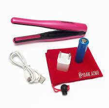 Catokan Portable jual catokan portable cordless hair iron catokan rambut warna pink