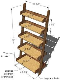 Furniture Plans Bookcase Free by Ana White Leaning Wall Shelf Diy Projects