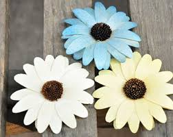 Wooden Flowers Sola Wood Flowers Pack Of 3 Large Sunflowers 3 Inch From