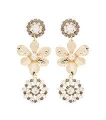 on earrings erdem embellished pearl clip on earrings gold women