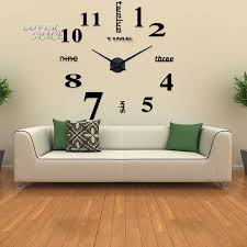 Decorative Wall Clocks For Living Room Online Get Cheap Huge Wall Clock Aliexpress Com Alibaba Group