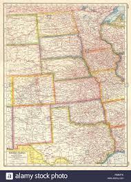Minnesota United States Map by Usa Plains States Nd Sd Ne Mn Ia Nm Ok Texas United Stock Photo