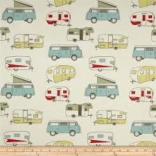Discount Home Decor Fabric by Premier Prints Vintage Camper Formica Discount Designer Fabric
