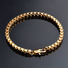 box chain bracelet images Buy men jewelry 4mm wide box chain bracelet gold jpg