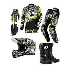 oneal motocross gloves oneal 2018 element attack jersey pant matrix gloves rider boots 3