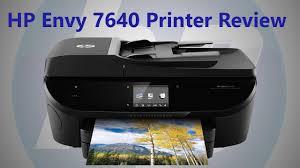 hide printer hp 7640 printer review and setup youtube