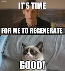 Doctor Who Memes Funny - it s time to regenerate grumpy cat doctor who pinterest