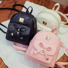 book bags with bows 2017 new bag mini backpacks bow pu leather backpacks for