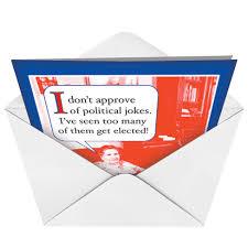 political jokes funny birthday card